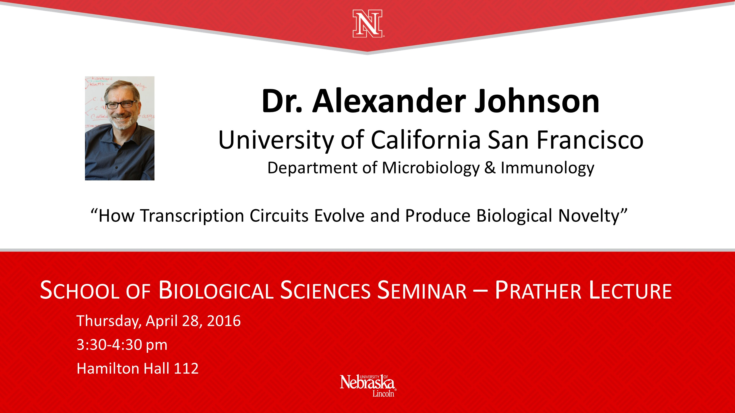 Alexander Johnson featured in Prather Lecture Series